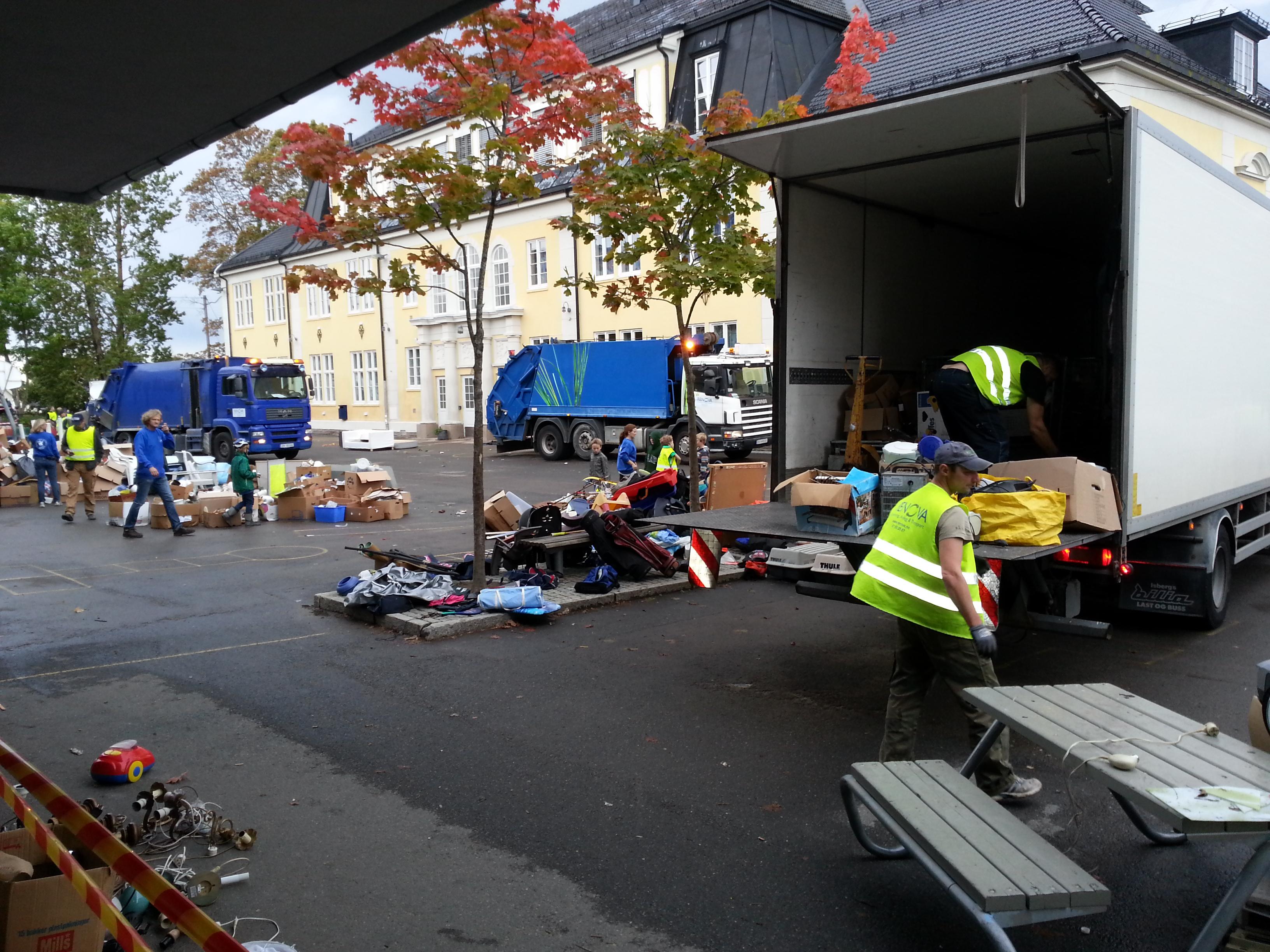 Loppemarked, Renova henter alle restlopper på Bekkelaget skole